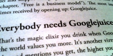"If you've got a creative thirst, then I recommend some ""Googlejuice"""