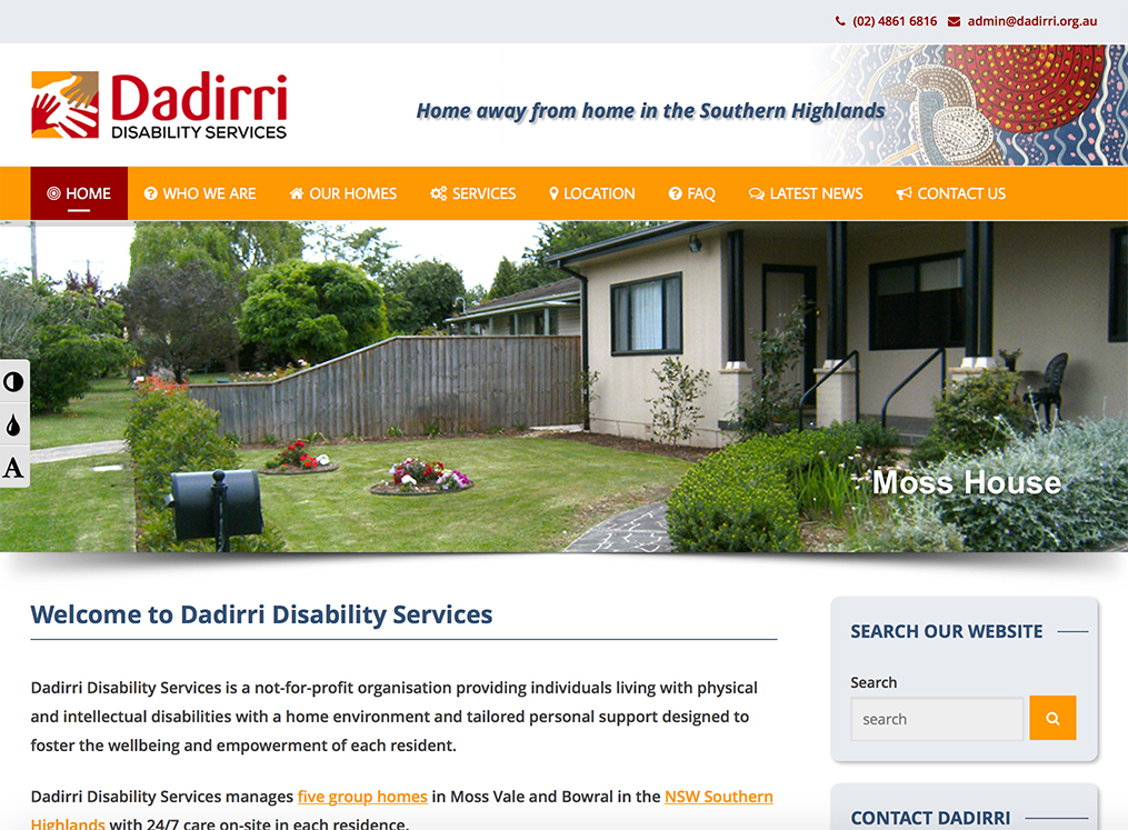 Dadirri website - take a look >