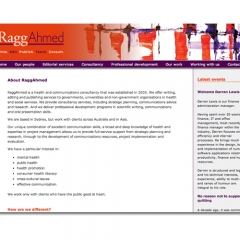 RaggAhmed – website